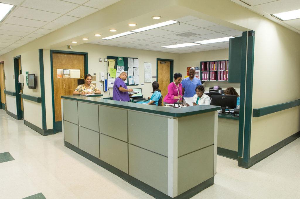 Nursing Station and Attendants